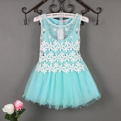 Summer Baby Flower Lace Dress High ..