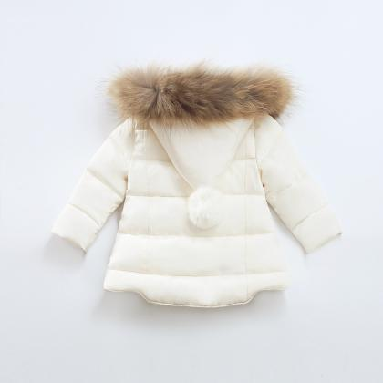 Baby Winter Solid Coat Warm Kids O..