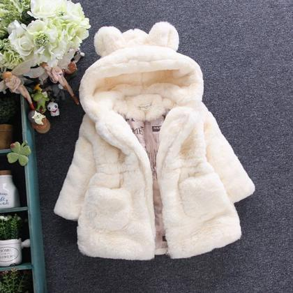 Cold Winter Baby Girls Clothes Faux..
