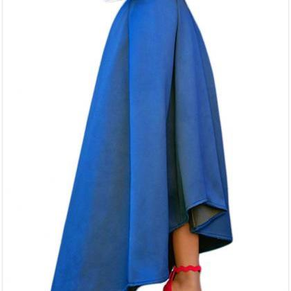 Women Maxi A Line High-Low Skirt Vi..