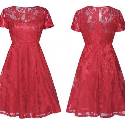 Fashion Summer Dress Floral Lace Sh..