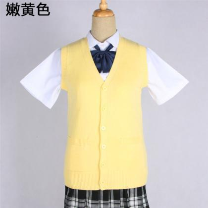 Japanese JK Uniform Cardigans Vest ..