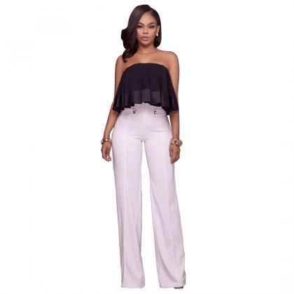 Hot Women High Waist Wide Leg Long ..