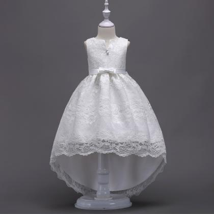 High Low Lace Flower Girl Dress Pri..