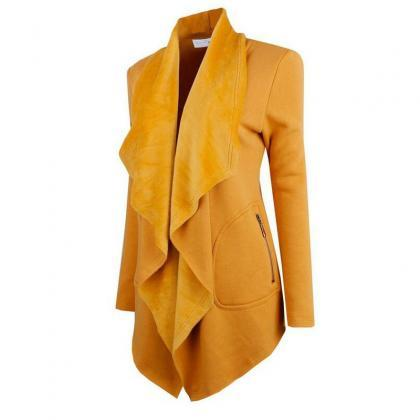 Spring Autumn Turn-down Collar Coat..