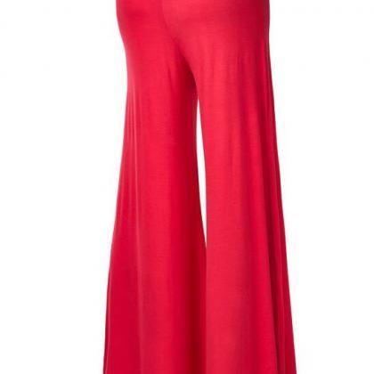 Women Slim Flare Pants High Waist L..