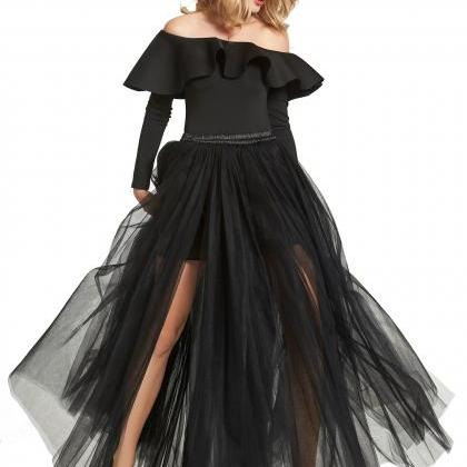 Sexy High Side Split Long Tulle A L..