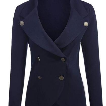Women Slim Blazer Coat Spring Autu..