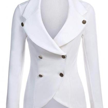 Women Slim Blazer Coat Spring Autum..
