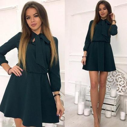 Women Summer Casual Dress 3/4 Sleev..