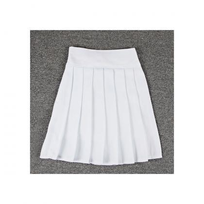White High Rise Short Pleated Skate..