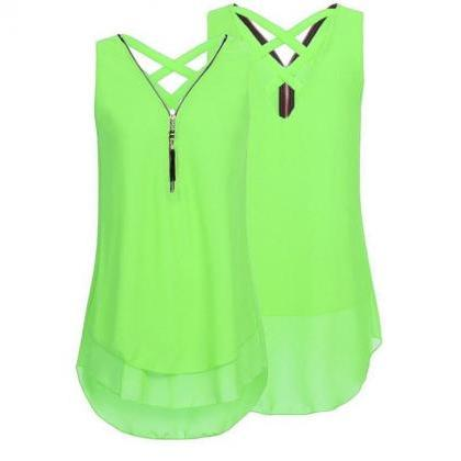 Plus Size Summer Tank Top Women Tun..