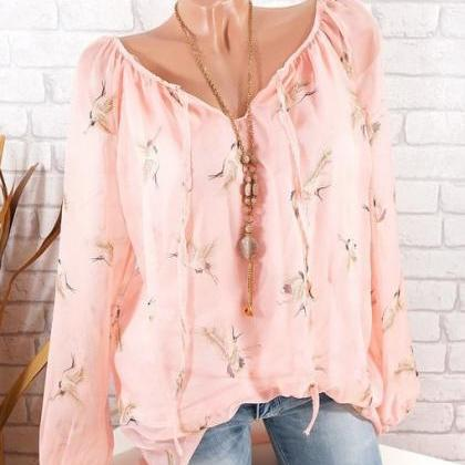 Women Floral Shirt Summer Off Shoul..
