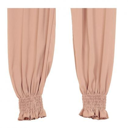 Women Chiffon Harem Pants Drawstrin..