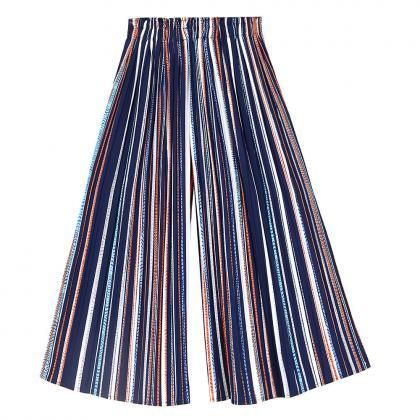 Women Striped Wide Leg Pants Loose ..