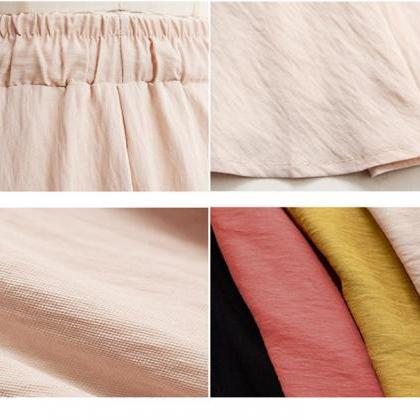 Summer Women Wide Leg Shorts Plus ..