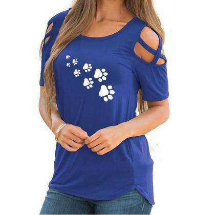 Women T-Shirt Summer Short Sleeve C..