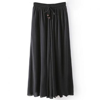 Women Maxi Skirt Summer Fashion Sol..