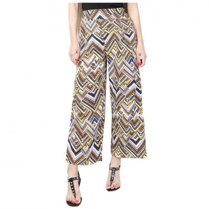Women Floral Printed Wide Leg Pants..