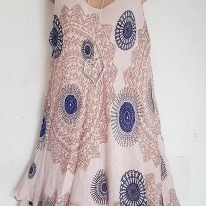 Women Floral Printed Mini Dress Sum..