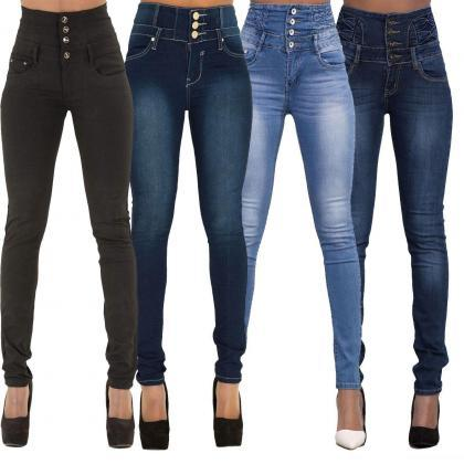 Woman Denim Pencil Pants High Waist..