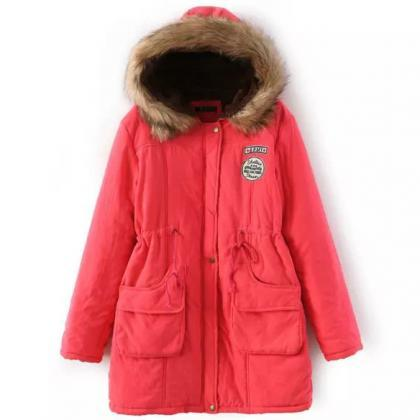 Winter Women Cotton Coat Parka Casu..