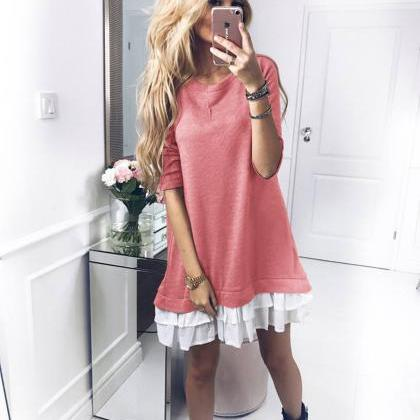 Women T Shirt Dress Autumn Long Sl..
