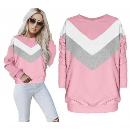 Women Sweatshirt Autumn Geometric ..
