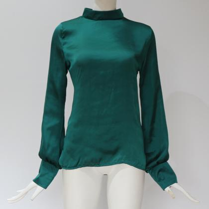 Women Blouse Autumn Turtleneck Lant..