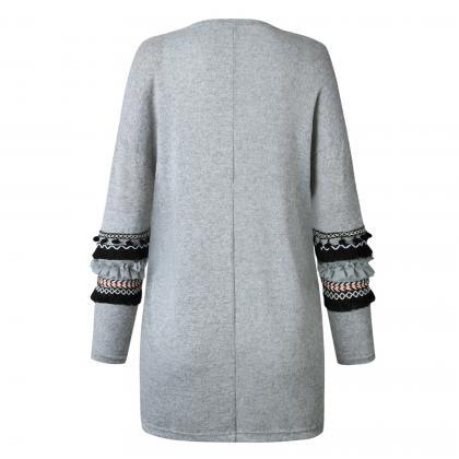 Women Knitted Sweater Coat Autumn W..