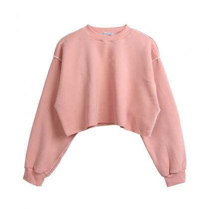 Women Crop Tops Autumn Winter Long..