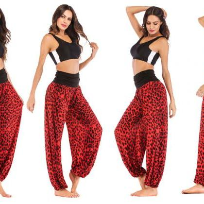 Women Leopard Printed Yoga Pants Hi..