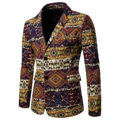 Men Blazer Coat Spring Autumn Afri..