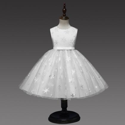 Snowflake Flower Girl Dress Princes..