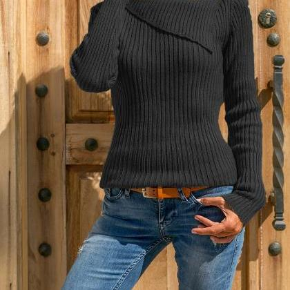 Women Knitted Sweater Autumn Winter..