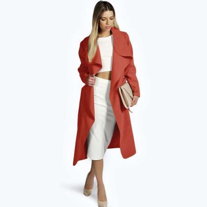 Women Woolen Blend Coat Autumn Wint..