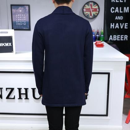 Men Sweater Coat Spring Autumn Long..
