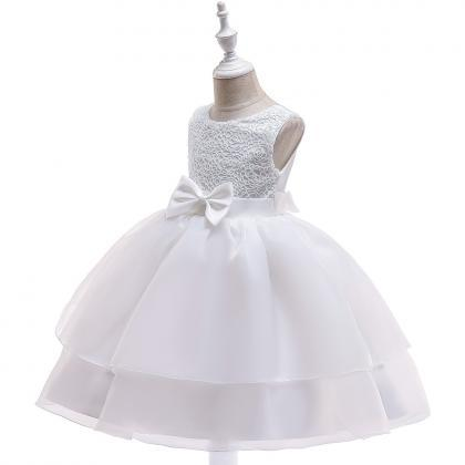 Lace Flower Girl Dress Sleeveless ..