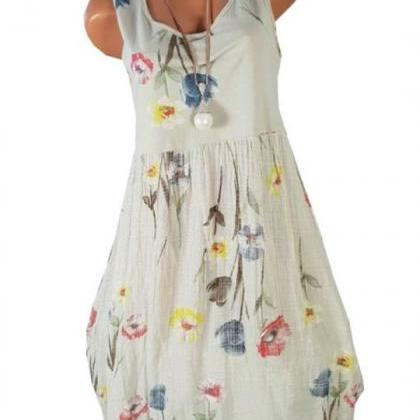 Women Floral Printed Dress Summer C..