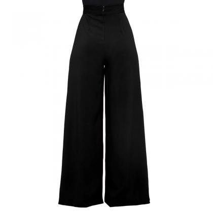 Women Wide Leg Pants Casual High Wa..