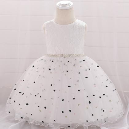Polka Dot Flower Girl Dress Newbor..