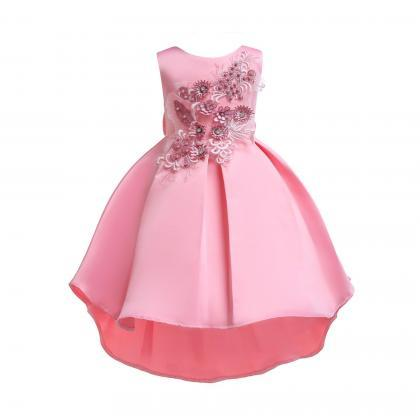 Party wedding kid princess baby girl dress bridesmaid flower formal dresses tutu