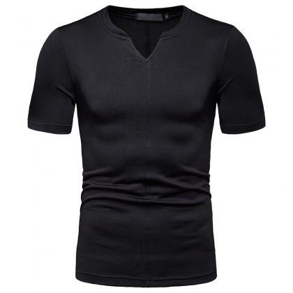 Fashion short Sleeve V-Neck T Shirt..