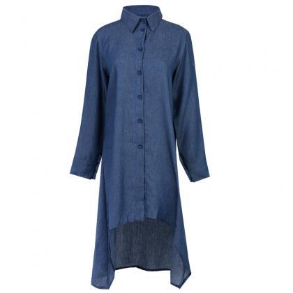Fashion Summer Women Shirt Dress Lo..