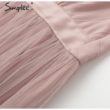 Simplee women dress Elegant v neck ..