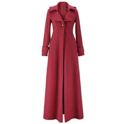 Floor Length Red Coat Women Jackets..