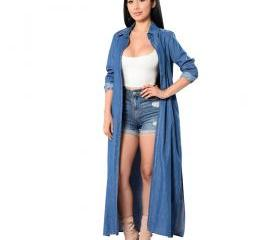 Maxi Long Denim Tren..