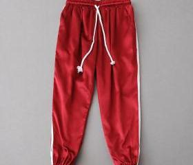 Red Casual Trousers,..