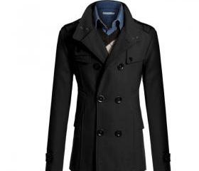Men Woolen Coat Warm..