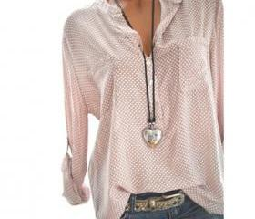 men Polka Dot Blouse..